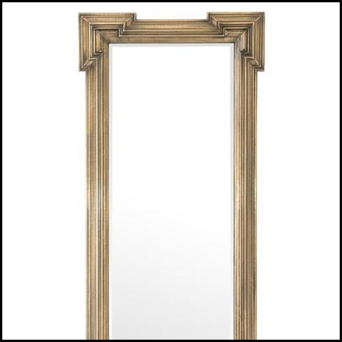 Miroir Miroir sculpté à la main, Acajou massif 119-Diamante