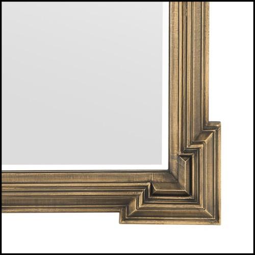 Miroir Style rococo lunatique en acajou massif sculpté à la main 119-Rococo