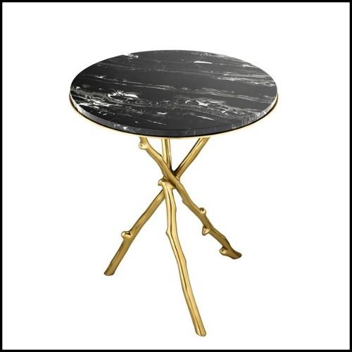Miroir avec anneaux de bois sculpté à la main 119-Très Chic