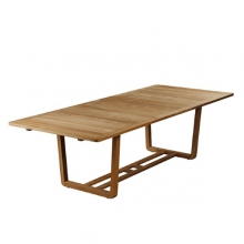 Table de repas extensible rectangulaire en teck massif 139-Avon