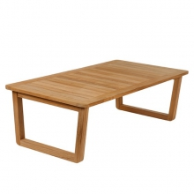 Table basse rectangulaire Deep Seating en teck massif 139-Avon