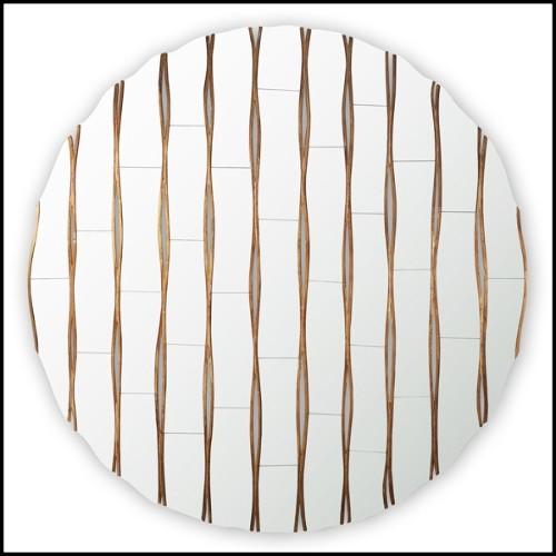 Coffre avec structure en Acajou massif et finition Gold 145-Safe
