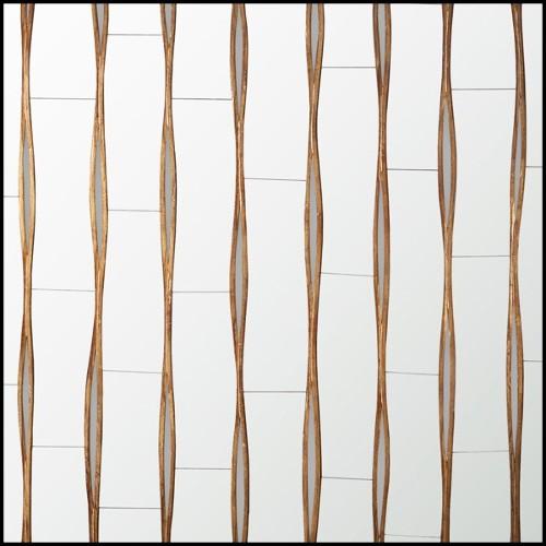 Buffet Finition en feuille d'argent vert émeraude translucide 145-Jade