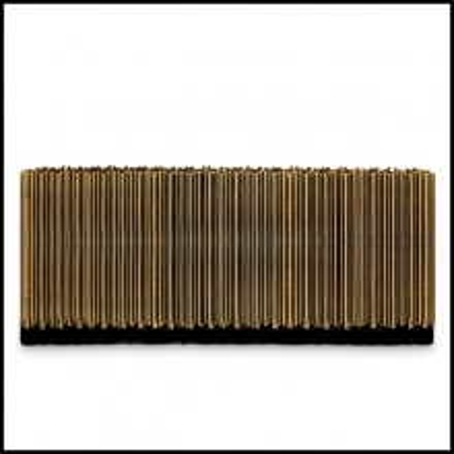 Buffet avec Tubes en laiton polis qui enveloppent une structure de bois exotique145-Brass Tubes