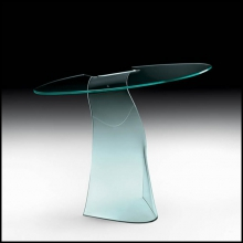 Console with a single curved glass panel 12mm thick 146-Charme