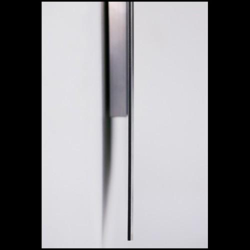 Console avec plateau et piétement en verre transparent 146-Straight