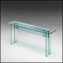 Console with transparent base and glass top 146-Straight