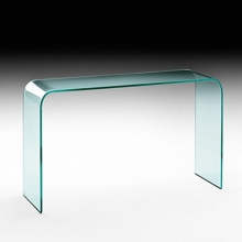 Curved glass console 146-Elementare