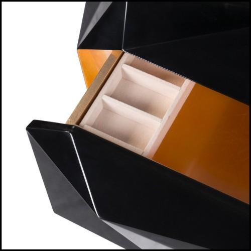 Console miroir en verre cintré et cadre acier inoxidable 146-Let me see