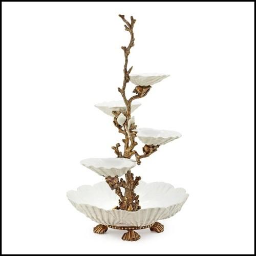 Table de repas avec plateau en acajou soutenu par une série de jambes Chris-cross d'acajou entrelacées 119-Rain Forest