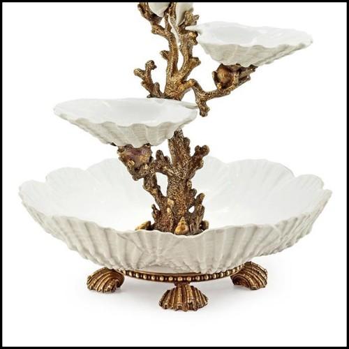 Table de repas avec bases en acajou sculpté à la main et plateau en acajou plaqué 119-Dialesque
