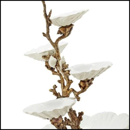 Table de repas en acajou massif, flamboyante avec des courbes rapides 119-Serra