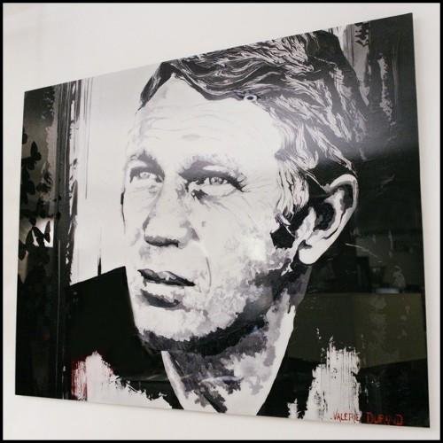 Table de repas avec piétement Topaze en acier et plateau céramique ceinture métal 148-Topaze Céramique 10 blanc