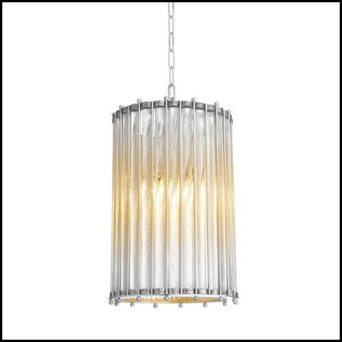 Sellette finition Gold avec plateau en verre fumé noir 24-Baroque