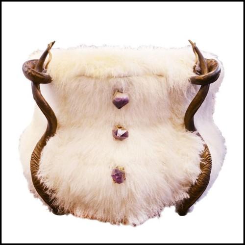 Chandelier avec structure finition laiton vintage ou finition nickel 24-So Cube