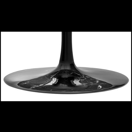 Étagère avec structure en acier inoxydable finition Gold et verre fumé noir 24-Soto