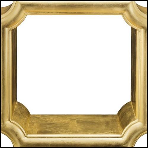 Horloge en cristal sablé et poli avec diodes à Led blanches et bleues PC-Blue Baccarat