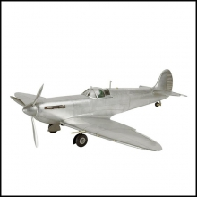 Spitfire aircraft model reduced model handcrafted in aluminum foil 113-Spitfire