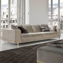 Sofa 4 seaters in fabric finishing Young category B 39-Oboé