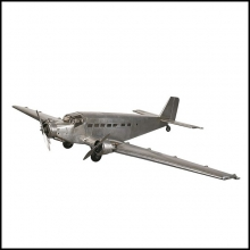 Modèle d'avion Junker JU52 modèle réduit fabriqué à la main en feuilles d'aluminium 113-JU52