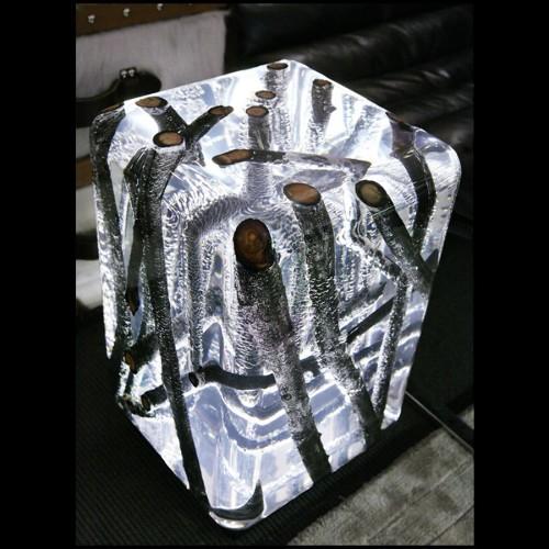 Miroir rectangulaire en acier inoxydable et miroir glace 24-Granduca