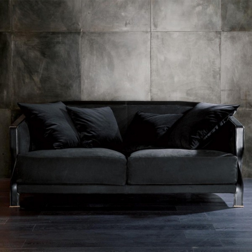 Groovy Sofa 2 3 Seater With Bronze Structure And Genuine Leather Gmtry Best Dining Table And Chair Ideas Images Gmtryco
