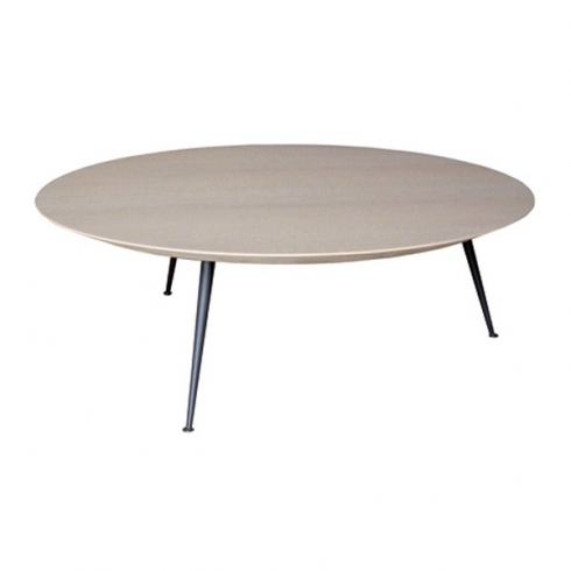 Table basse avec plateau plaqué chêne et pieds en acier 152-Venus - Pacific  Compagnie 6275e233cca3
