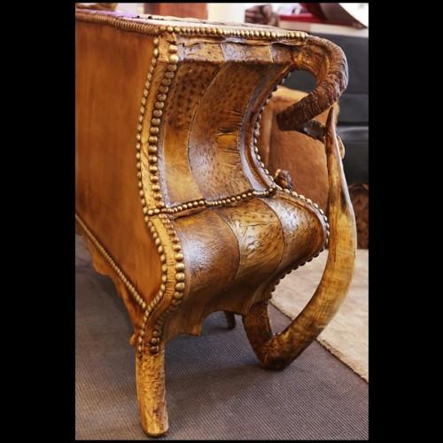 Table basse en plaqué chêne 152-Garou