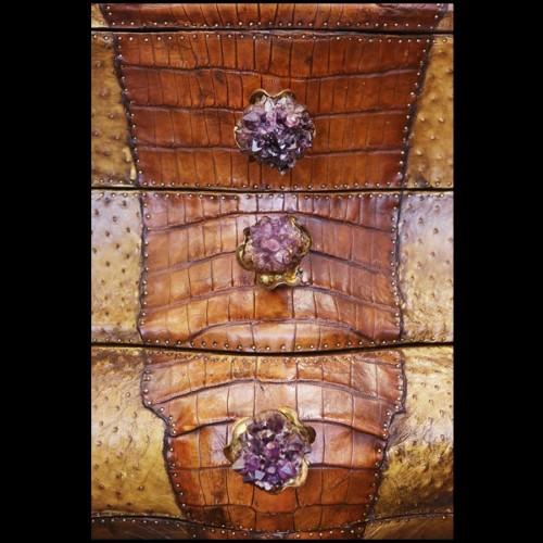 Coffee table in oak veneer legs in steel 152-Mao