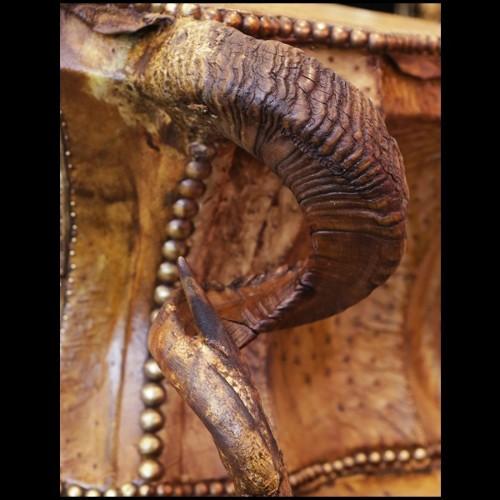 Table basse en plaqué chêne avec petite table sur roulettes 152-Regate