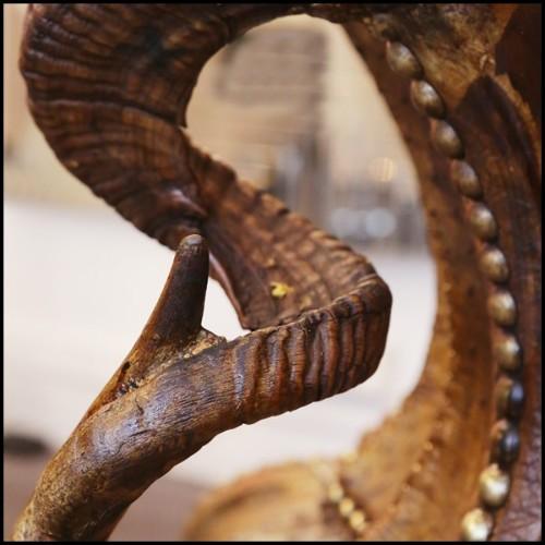 Table basse plateau plaqué chêne et pieds chêne massif 152-Samson