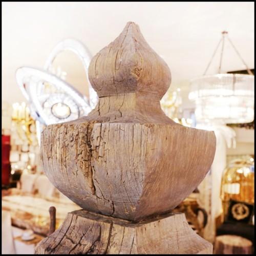 Table de repas avec plateau plaqué chêne et pieds en acier 152-Baron