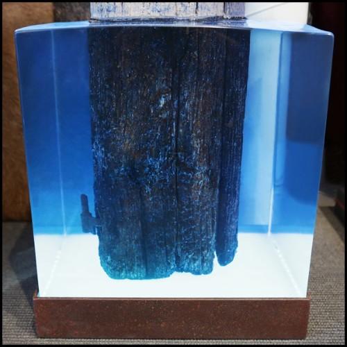 Table de repas avec plateau plaqué chêne et pieds en acier 152-Falcon