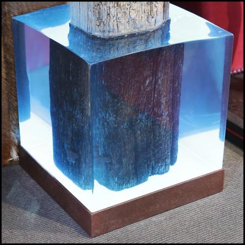 Table de repas avec plateau plaqué chêne et pieds en acier 152-Luna