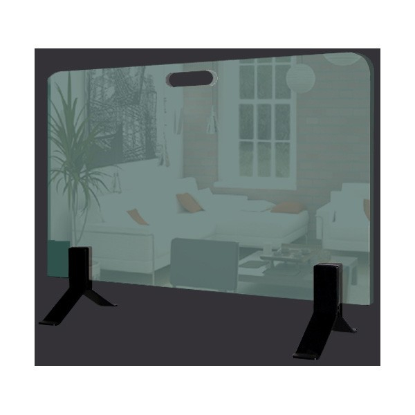 pare feu 34 sol en verre pacific compagnie. Black Bedroom Furniture Sets. Home Design Ideas