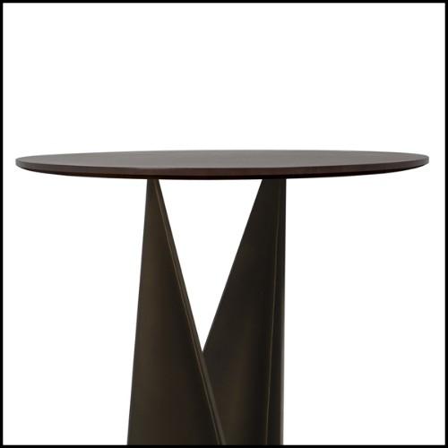 Chaise en acier brossé et teck naturel recyclé 09-Indus
