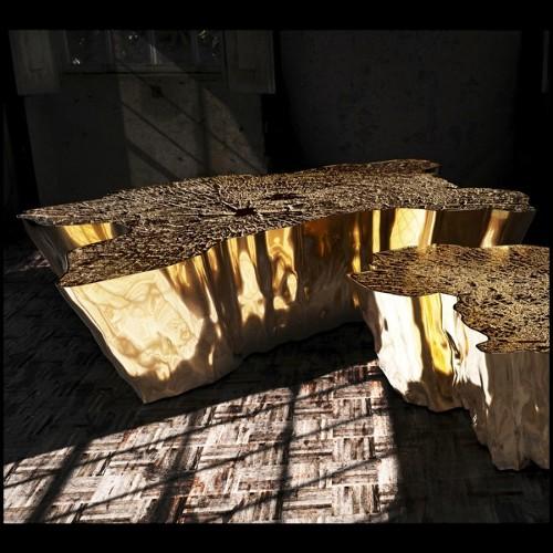 Tabouret de bar avec finition acier noir et assise en bois shishum 09-Ogi