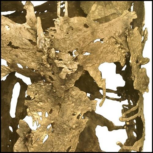 Tabouret de bar en acier avec finition oxydé et assise en cuir vintage marron 09-Vintage 77 Brown