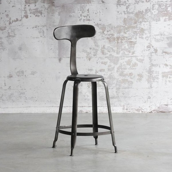 Pleasing Bar Stool In Iron With Vintage Finish 09 Turn Baleine 60 Caraccident5 Cool Chair Designs And Ideas Caraccident5Info