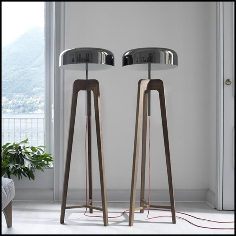 tabouret de bar en acier avec assise marron en cuir 09 industry cuir pacific compagnie. Black Bedroom Furniture Sets. Home Design Ideas