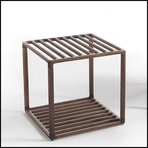 Tabouret ajustable en fonte noir et assise en cuir marron 09-Singer Cuir