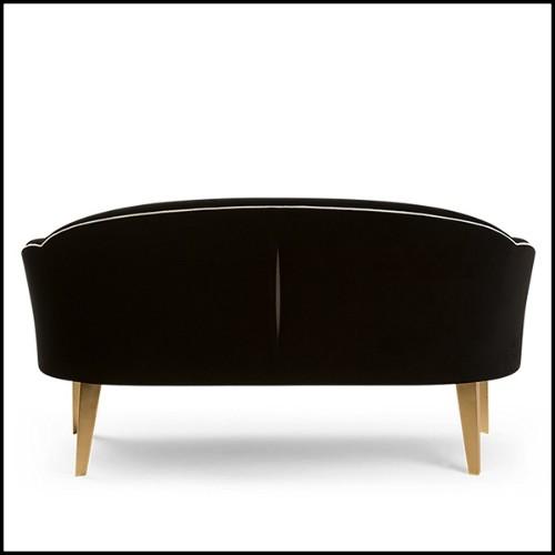 Table haute avec structure en acier finition Black et plateau en teck naturel recyclé 09-Wheels Black