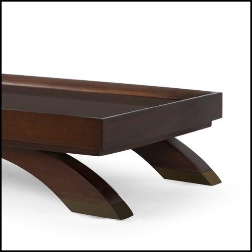 Table haute pliante avec structure en acier et plateau en teck naturel recyclé 09-Lign