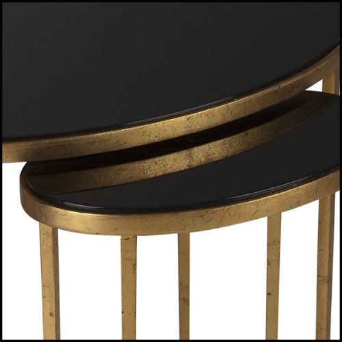 Table haute avec pieds en acier brossé et plateau en teck naturel recyclé 09-Atelier Brush