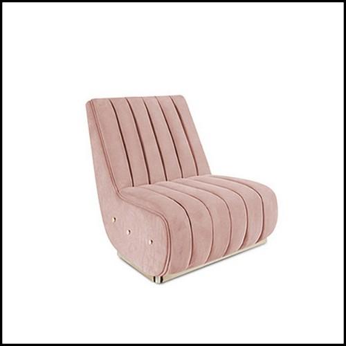 Table basse en aluminium powder-coated blanc avec pieds en teck 70-Virro