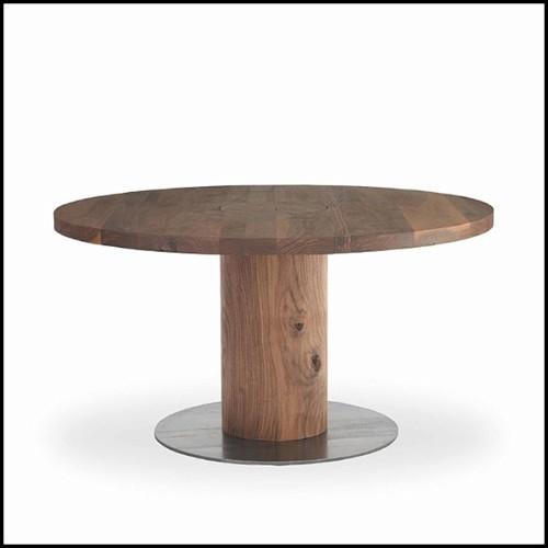 Pouf en feutrine de laine mélangée 70-Blossom